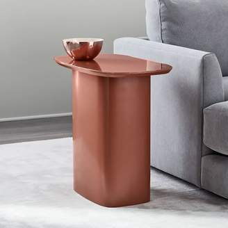 west elm Superellipse Glass Top Side Table - Copper