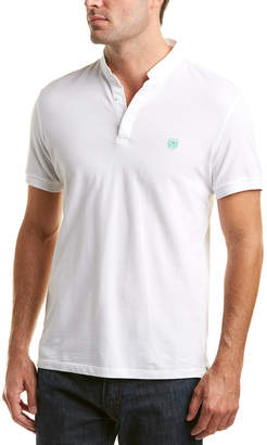 The Kooples The New Shiny Pique Fitted Polo Shirt