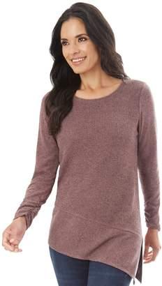 Apt. 9 Women's Asymmetrical Ribbed Crewneck Sweater