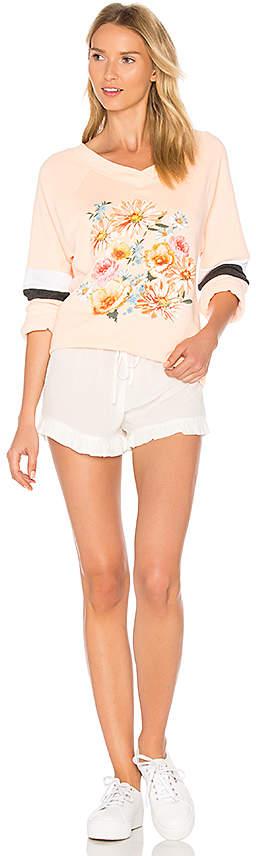 Wildfox Couture Nana's Wallpaper Pullover in Peach 4