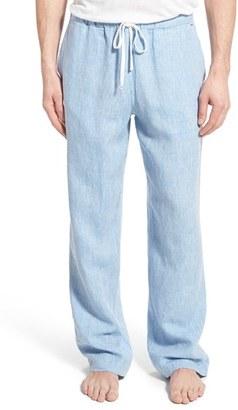 Men's Daniel Buchler Washed Linen Lounge Pants $120 thestylecure.com