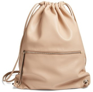 Phase 3 Faux Leather Sling Backpack - Brown