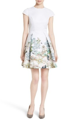 Women's Ted Baker London Yvetta Fit & Flare Dress $335 thestylecure.com
