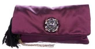 Lanvin Embellished Satin Clutch