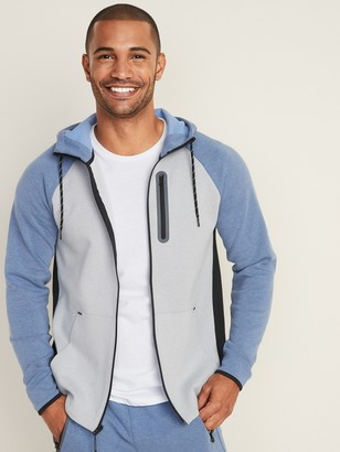 Old Navy Dynamic Fleece Color-Blocked Zip Hoodie for Men