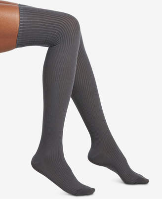 Hue Ribbed Over-The-Knee Socks