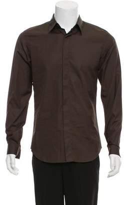 Calvin Klein Collection Hidden Button-Up Shirt