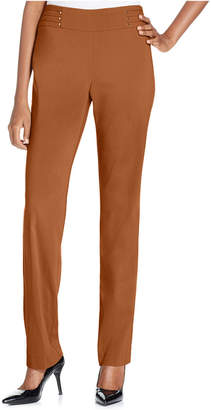 JM Collection Petite Studded Pull-On Pants
