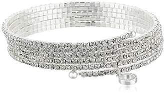 Anne Klein Social Glamour Crystal Multi-Row Stone Flex Bracelet