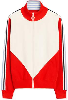 Tory Sport PERFORMANCE RETRO-STRIPE ZIP-UP SWEATER