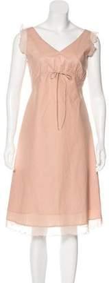 BCBGMAXAZRIA Sleeveless Midi Dress