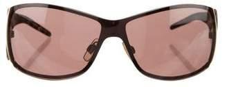 Dolce & Gabbana Leopard Print Shield Sunglasses