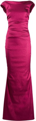 Talbot Runhof low back long dress