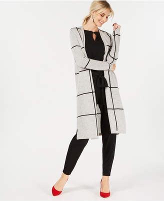 Charter Club Pure Cashmere Grid Completer Sweater in Regular & Petite Sizes, Created for Macy's