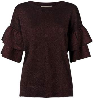 MICHAEL Michael Kors Metallic Ruffled Sweater
