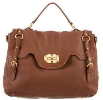 Miu Miu Grained Leather Flap Bag
