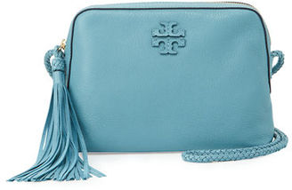 Tory Burch Taylor Leather Camera Bag w/ Tassel $350 thestylecure.com