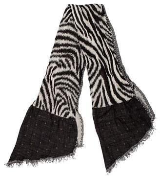 Christian Lacroix Wool Grommet-Embellished Shawl