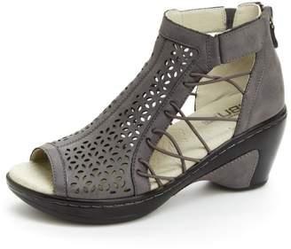 Jambu Cut-Out Wedge Sandal