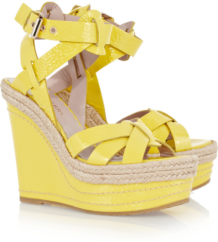 Mulberry Patent-leather wedge sandals