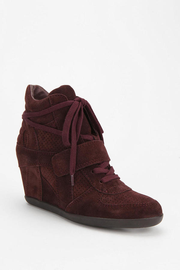 Ash Suede Bowie High-Top Wedge-Sneaker