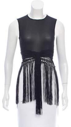 Versace Silk Fringe Top