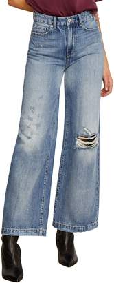 Habitual Rania High Rise Wide Leg Ripped Nonstretch Jeans