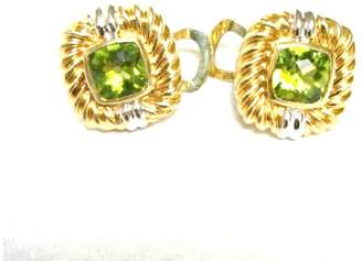 David Yurman Vintage 18K Yellow Gold Renaissance Peridot Earrings