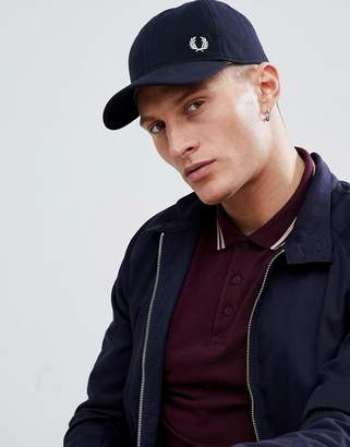 Fred Perry Pique Cap In Navy