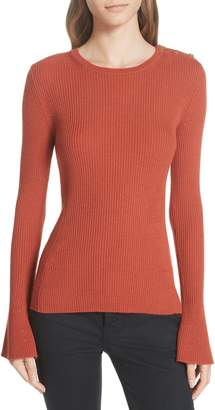 Tory Burch Liv Merino Wool Sweater