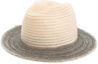 Inverni contrast brim woven hat