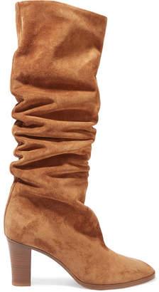 Vince Casper Suede Knee Boots - Tan