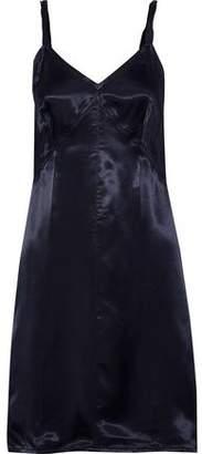 Helmut Lang Twisted Satin-twill Mini Slip Dress
