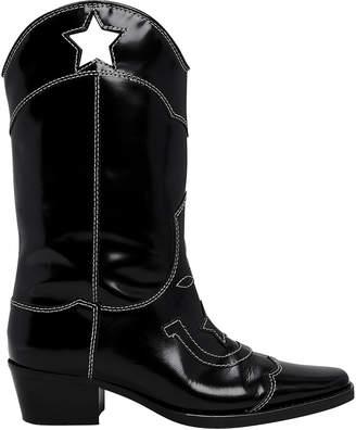Ganni Marlyn Star Cutout Western Boots