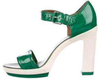 Marc by Marc Jacobs Patent Leather Ankle-Strap Sandals