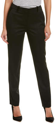 The Kooples Velvet-Trim Wool-Blend Trouser