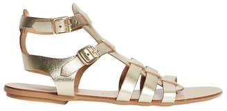 Dorothy Perkins Gold Leather 'Finlay' Sandals