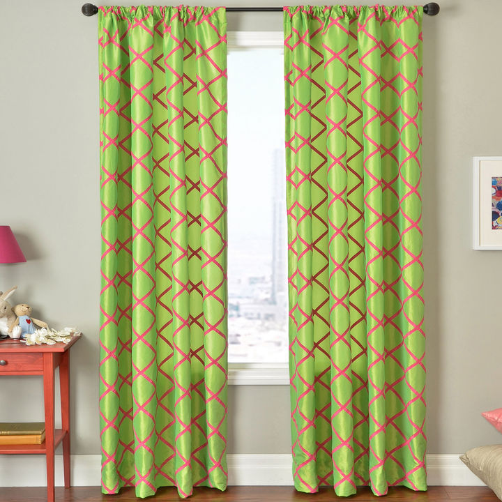 JCPenney SOFTLINE HOME FASHIONS Trellis Rod-Pocket Curtain Panel