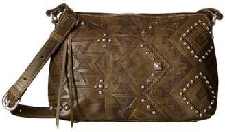 American West Nomad Heart Zip Top Crossbody Cross Body Handbags