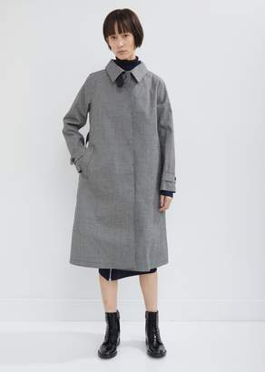 MACKINTOSH Rubberized Houndstooth Trench Coat