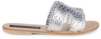 Steven by Steve Madden Greece Metallic Slide Sandals