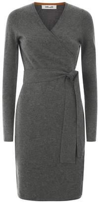 Diane von Furstenberg Linda Knitted Wrap Dress