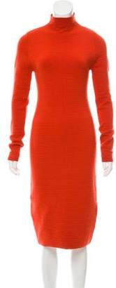 Calvin Klein Collection Mock Neck Midi Dress