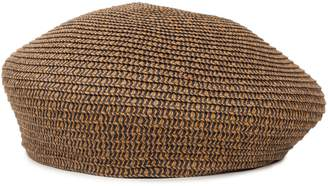 7 For All Mankind Brixton Audrey Straw Hat in Copper Navy