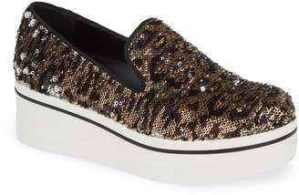 Stella McCartney Binx Stars Flip Sequin Platform Sneaker