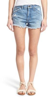Joe's 'Collector's - Wasteland' Cutoff Denim Shorts (Mazie) $145 thestylecure.com