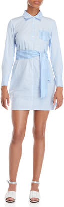 Romeo & Juliet Couture Romeo + Juliet Couture Striped Tie Waist Shirt Dress