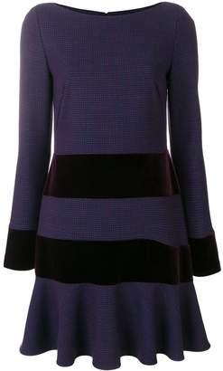 Talbot Runhof striped stretch dress