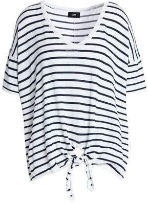 Line Heidi Tie-Front Striped Jersey Top