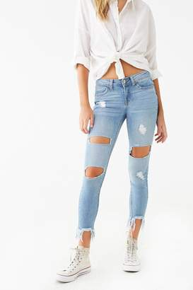 Forever 21 Distressed Push-Up Jeans